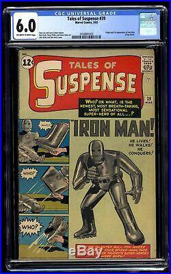 Tales Of Suspense #39 CGC FN 6.0 Off White to White Iron Man