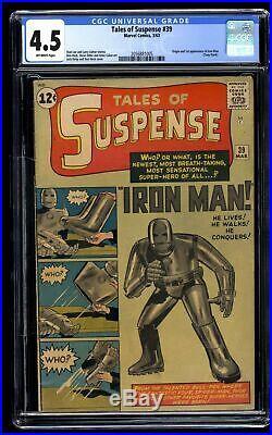 Tales Of Suspense #39 CGC VG+ 4.5 Off White Iron Man