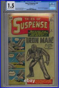 Tales Of Suspense #39 Cgc 1.5 Origin/1st Iron Man