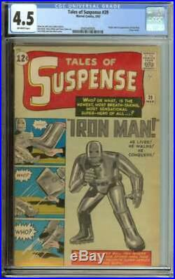 Tales Of Suspense #39 Cgc 4.5 Ow Pages