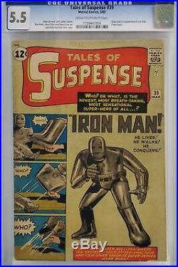 Tales Of Suspense #39 Cgc 5.5 1st Tony Stark Iron Man Mac
