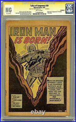 Tales Of Suspense #39 Cgc Ng Ss Stan Lee Splash 1st App Iron Man #1196085006