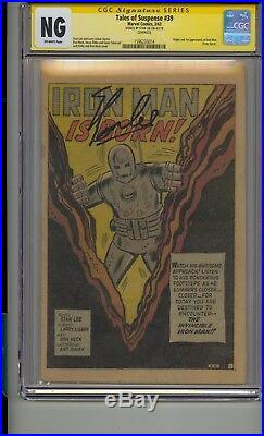 Tales Of Suspense #39 Cgc Ss Signed Stan Lee 1st Iron Man