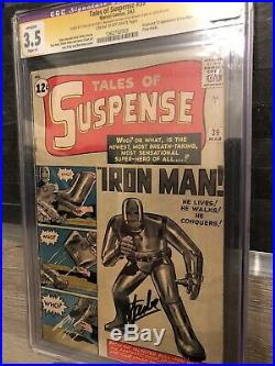 Tales Of Suspense 39 Cgc Ss Stan Lee first appearance of Iron Man