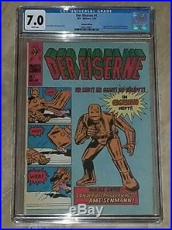 Tales Of Suspense 39 German Der Eiserne #1 Cgc 7.0 White Pages Iron Man