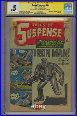 Tales Of Suspense #39 Ss Cgc. 5 Origin/1st Iron Man Signed By Stan Lee