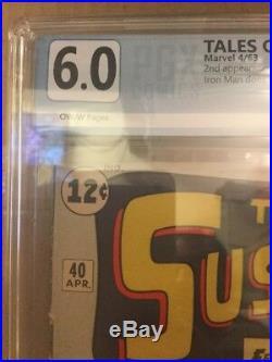 Tales Of Suspense #40 2nd App Iron Man PGX 6.0 Not CGC