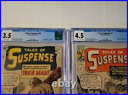 Tales Of Suspense #40, 41 & 42 Cgc 2nd 3rd & 4th Appearance Of Iron-man