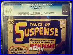 Tales Of Suspense 40 CGC 4.0 2nd Second app. Of Iron Man Free Domestic Shipping