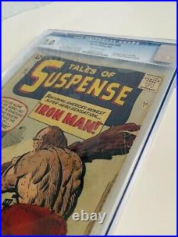 Tales Of Suspense #40 Cgc 2.0 1963 2nd Appearance Of Iron Man Marvel Comics