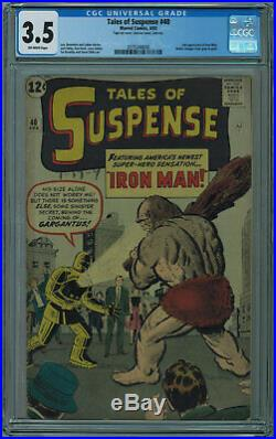 Tales Of Suspense #40 Cgc 3.5 2nd Iron Man 1st Gold Armor Ow Pgs 1963
