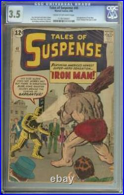 Tales Of Suspense #40 Cgc 3.5 Cr/ow Pages // 2nd Appearance Of Iron Man