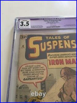 Tales Of Suspense #40 Cgc 3.5 Restored 1963 2nd Appearance Of Iron Man