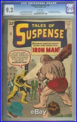 Tales Of Suspense #40 Cgc 9.2 White Pages