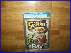 Tales Of Suspense #40 Silver Age Comic April 1963 Cgc Graded 3.5 + Perfect Cover