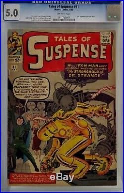 Tales Of Suspense #41 Cgc 5.0 3rd Iron Man