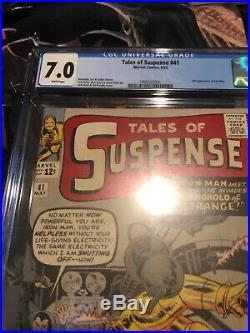 Tales Of Suspense 41 Cgc 7.0. White Pages