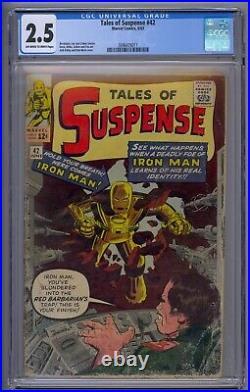 Tales Of Suspense #42 Cgc 2.5 4th Iron Man