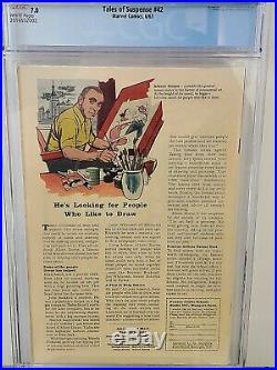 Tales Of Suspense #42 Cgc 7.0 Iron Man White Pages Da