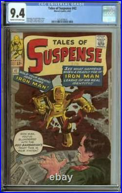 Tales Of Suspense #42 Cgc 9.4 Cr/ow Pages // Jack Kirby + Don Heck Cover