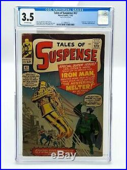 Tales Of Suspense 43 CGC 3.5 White Pages 1963 Iron Man