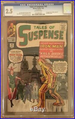 Tales Of Suspense #43 Cgc 2.5 - 5th Iron Man! 1st Kala! Lee/kirby/ditko/heck