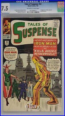 Tales Of Suspense #43 Cgc 7.5 Iron Man