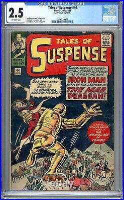 Tales Of Suspense #44 CGC 2.5 (G+) 1963 1st App Of The Mad Pharoah Silver Age