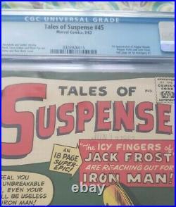Tales Of Suspense 45 Cgc 6.5 1st App. Of Happy Hogan, Pepper Potts & Jack Frost