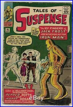 Tales Of Suspense #45 Comic Book (marvel) (1963) (gd+) (2.5) Cgc It