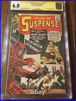 Tales Of Suspense #46 10/63 Cgc 6.0 Oww Ss Stan Lee First Crimson Dynamo! Nice