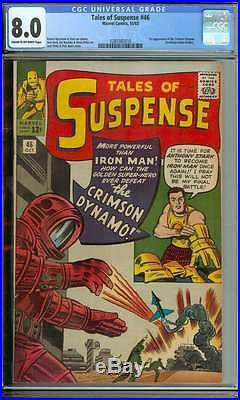 Tales Of Suspense #46 Cgc 8.0 Cr/ow Pages