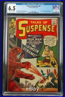 Tales Of Suspense 46 Cgc Solid 6.5 Off White Pages Key 1st Crimson Dynamo 1963