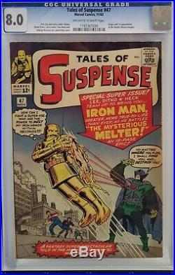 Tales Of Suspense #47 Cgc 8.0 Iron Man