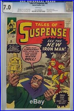 Tales Of Suspense #48 Cgc 7.0 New Iron Man Armor White Pages