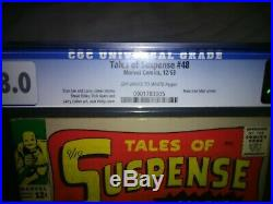 Tales Of Suspense #48 Cgc 8.0, Key Issue, New Armor Best One You'll Ever See