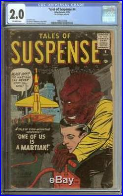 Tales Of Suspense #4 Cgc 2.0 Ow Pages