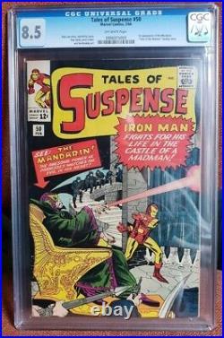 Tales Of Suspense #50-1964 (cgc 8.5) Iron Man (1st Appearance Of The Mandarin)