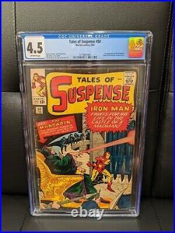 Tales Of Suspense 50 CGC 4.5 1st Mandarin Shang-Chi Marvel comics