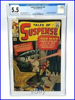Tales Of Suspense 50 CGC 5.5 OWithW Pages 1964 1st Appearance of the Mandarin