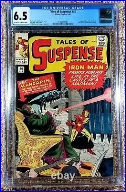 Tales Of Suspense #50 CGC 6.5 OWithW 1st App of The Mandarin