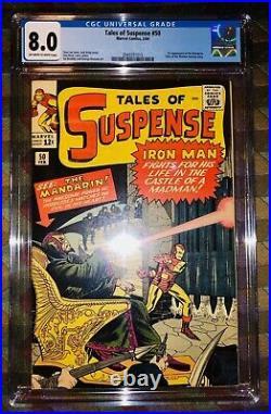Tales Of Suspense #50 Cgc 8.0 1st Appearance Of Mandarin 1964 Stan Lee/kirby