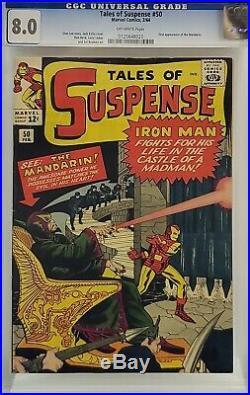 Tales Of Suspense #50 Cgc 8.0 1st Mandarin Iron Man