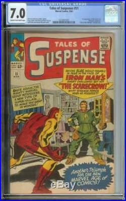 Tales Of Suspense #51 Cgc 7.0 Cr/ow Pages