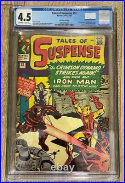 Tales Of Suspense #52 (1959) Cgc 4.5 Marvel 1st Appearance Black Widow