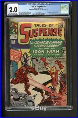 Tales Of Suspense #52 April 1964 Marvel CGC 2.0 Iron man 1st Black Widow Movie