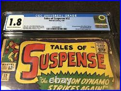Tales Of Suspense #52 CGC 1.8 1964 Key Marvel Comic First 1st Black Widow MCU