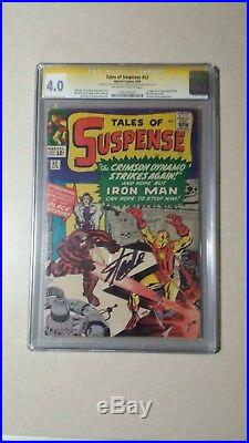 Tales Of Suspense #52 CGC 4.0 SS signed STAN LEE 1964 1st appearance Black Widow
