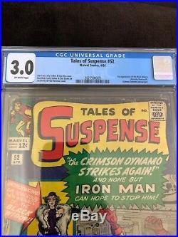 Tales Of Suspense #52 Cgc 3.0! 1st Appearance Black Widow! Of-w! Key/movie! L
