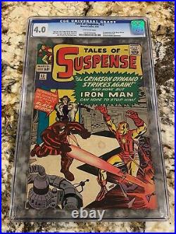 Tales Of Suspense #52 Cgc 4.0 O-white Pages 1st Black Widow Hot New Movie Soon